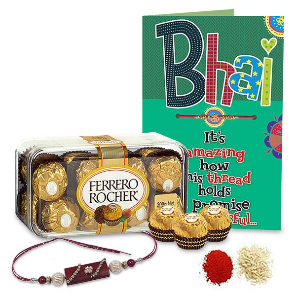 Ferrero Rocher and Rakhi Hamper For Bhai