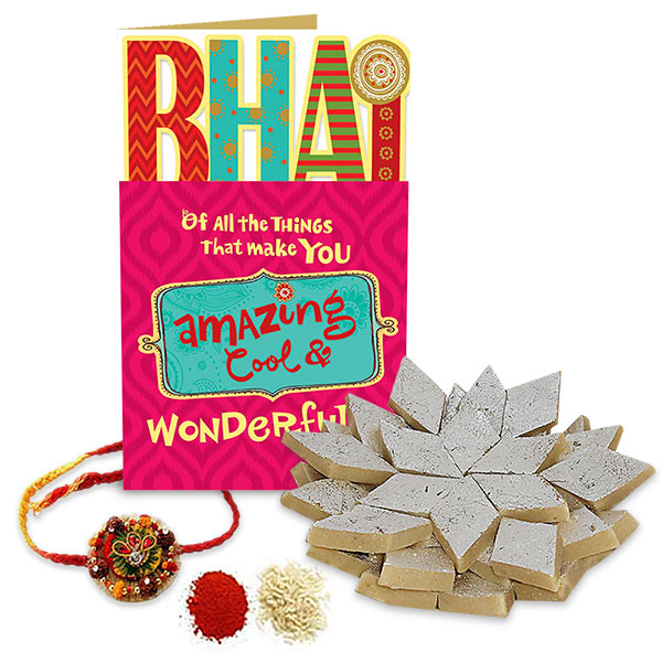 Kaju Katli and Rakhi Hamper
