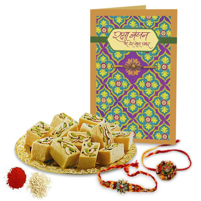 Soan Papdi and Rakhis Hamper