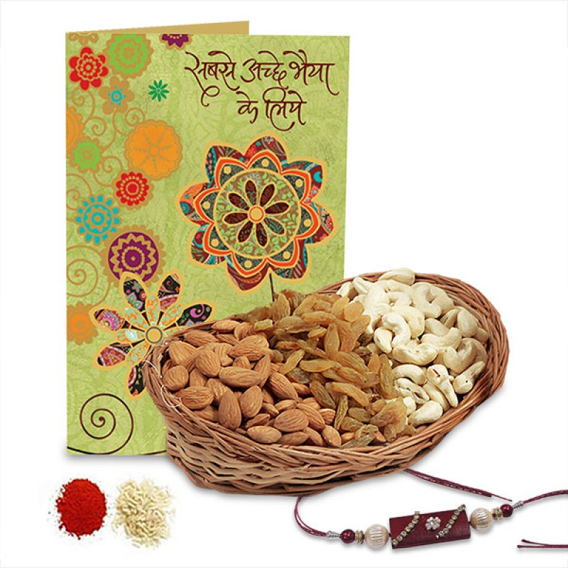 Dryfruits Basket and Rakhi Hamper