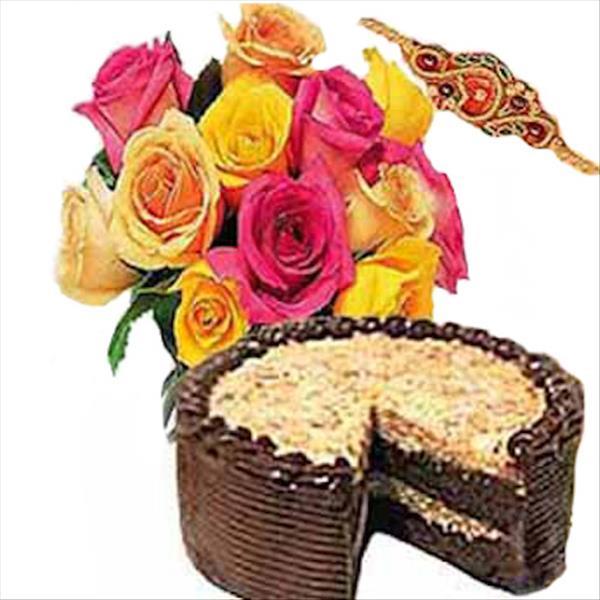 RAKHI ROSES AND CAKE