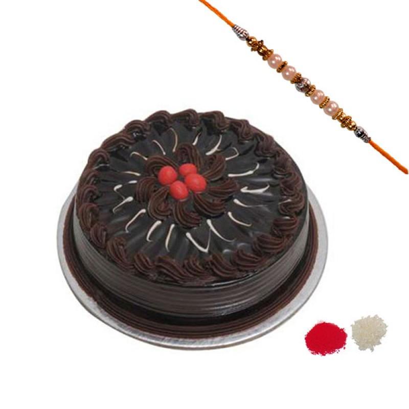 Rakhi With Truffle Cake