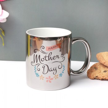 Mothers Day Personalised Silver Mug