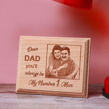 One Personalised Wooden Engraved Frame For Dad