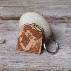 Personalized Wooden Keychain