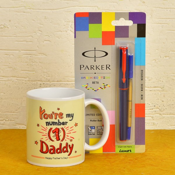 Fathers Day Mug N Parker Pen Combo
