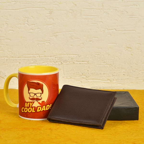 Fathers Day Coffee Mug with Wallet