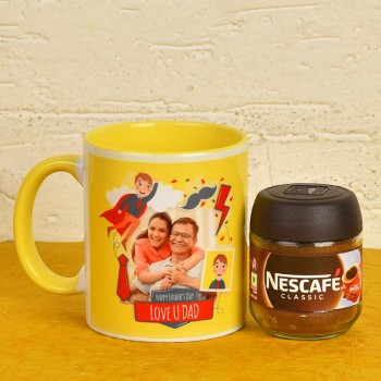 Personalised Mug N Coffee Combo For Dad