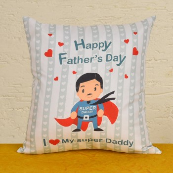 Super Daddy Printed Cushion for Fathers Day
