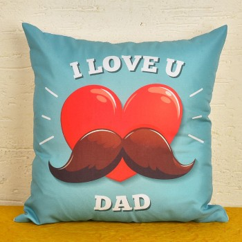 I Love U Dad Printed Cushion