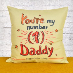Number 1 Daddy Cushion