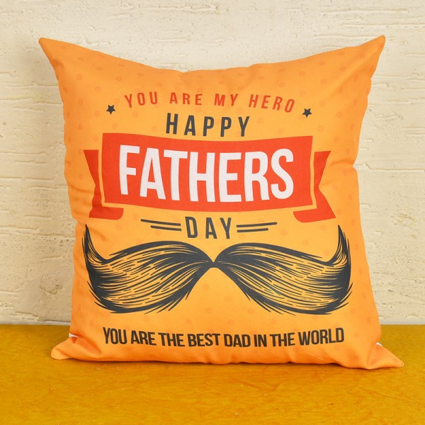 Happy Fathers Day Printed Cushion