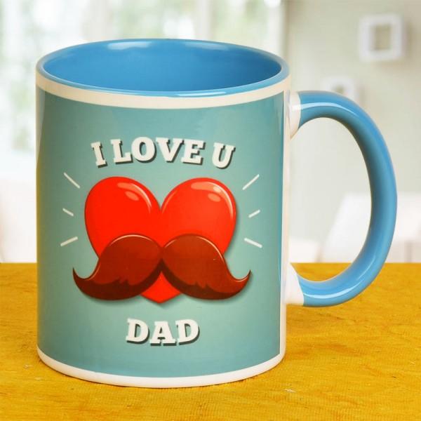 I Love U Dad Printed Mug