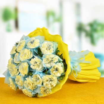 Celebrate With Yellow Carnations