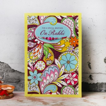 Lovely Raksha Bandhan Card