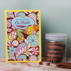 Rakhi Card with Cookies