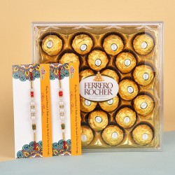 2 Pearl Rakhis N 24 Pcs Ferrero Rocher