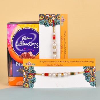 2 Pearl Rakhi N Cadbury Celebrations