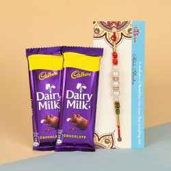Pearl Rakhi N Dairy Milk Silk Chocolates