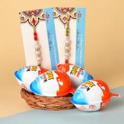 2 Pearl Rakhis N Kinder Joy Chocolates