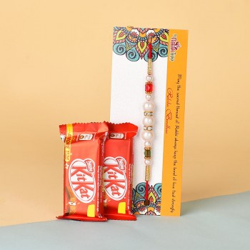 Pearl Rakhi N Kitkat Chocolates