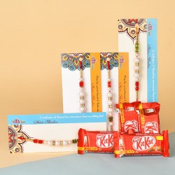 4 Pearl Rakhis N Kitkat Chocolates