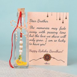 Bottled Rakhi Wishes for Brother