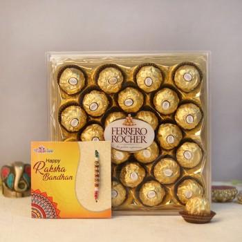 Ferrero Pearl Rakhi Combo