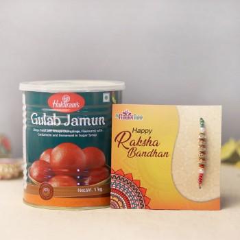 Sterling Pearl Rakhi with Gulab Jamun