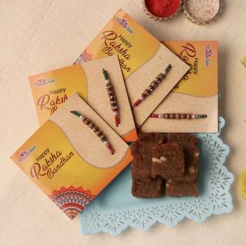 Designer Rakhi N Sweets Combo
