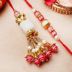 Appealing Pearl Lumba Rakhi Set