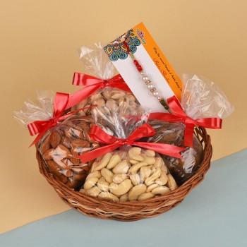 Pearl Rakhi N Dry Fruits Basket