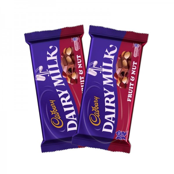 2 Cadbury Fruit and Nuts 40gms