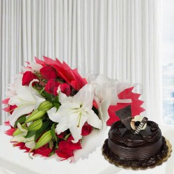 Send Fathers Day Flowers and Cakes Online