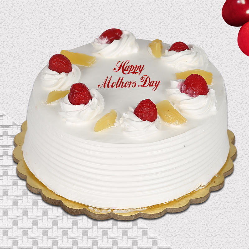 Eggless Pineapple Cake For Mom