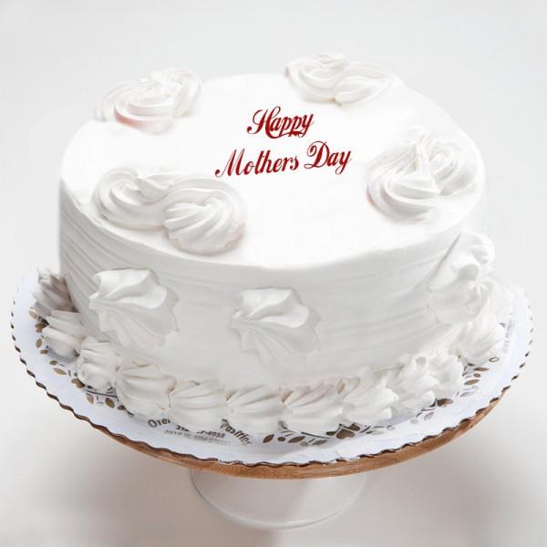 Eggless Vanilla Cake For Mom