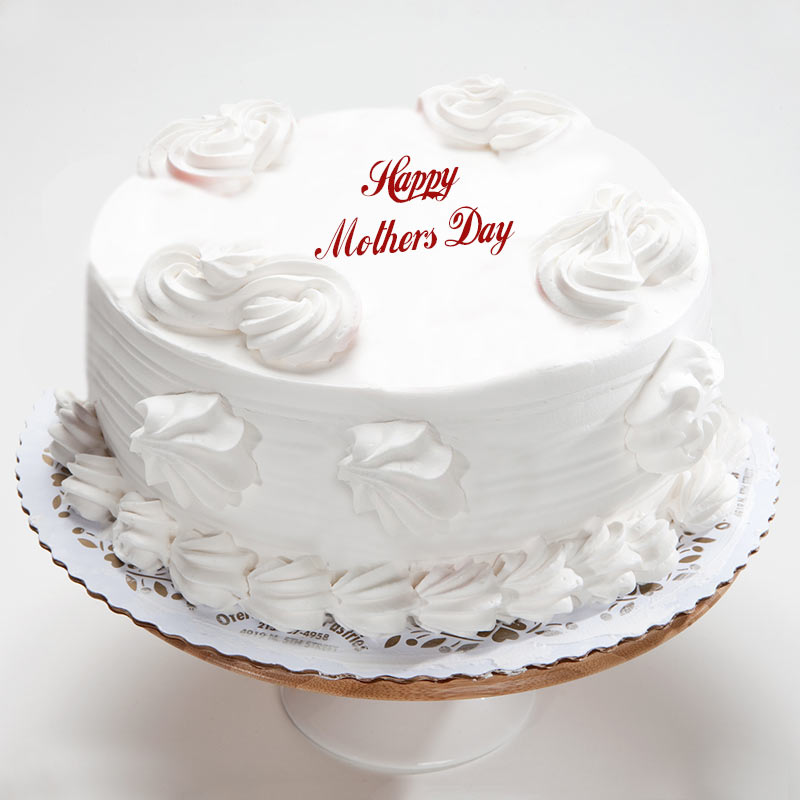 Eggless Vanilla Cake For Mom