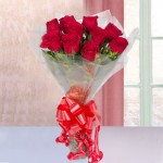 10 Red Roses Bouquet Online