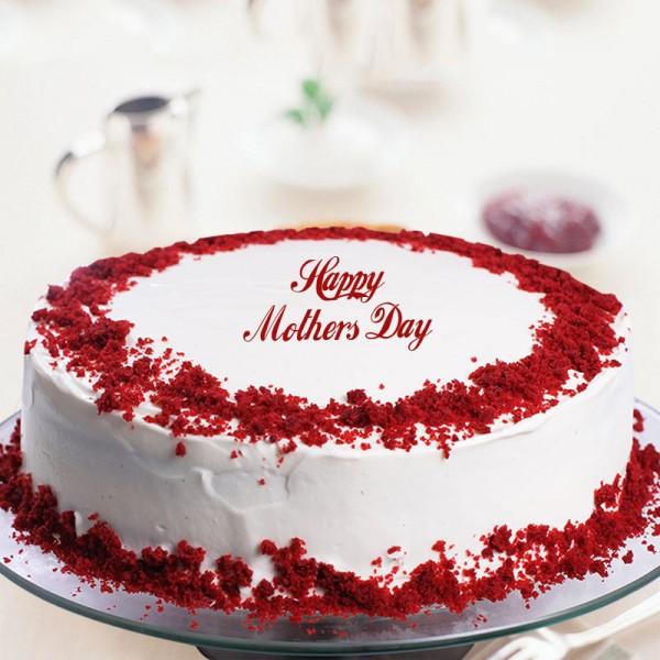 One Kg Red Velvet Cake Cream Cake for Mothers Day