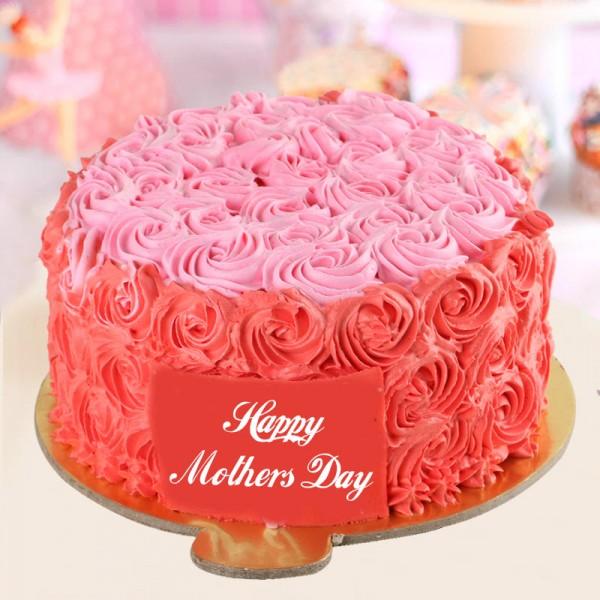 Half Kg Designer Vanilla Rose Cream Cake