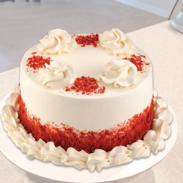 Half Kg Sugarfree Red Velvet Cake