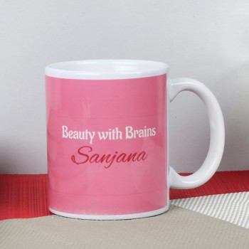 One Personalised Printed Quote Coffee Mug for Her