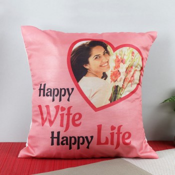 One Personalised Cushion for Wife