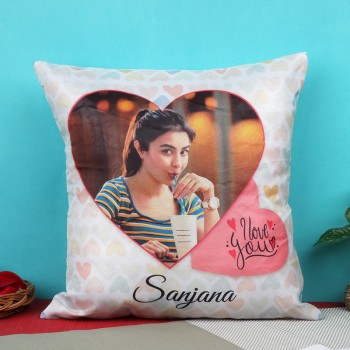 One Personalised Cushion