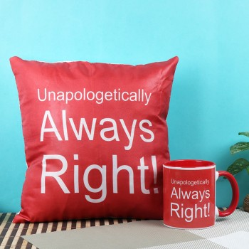 Always Right Combo of Cushion and Mug