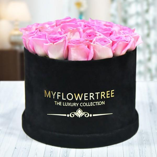 40 Pink Roses in a Black Signature Velvet Box