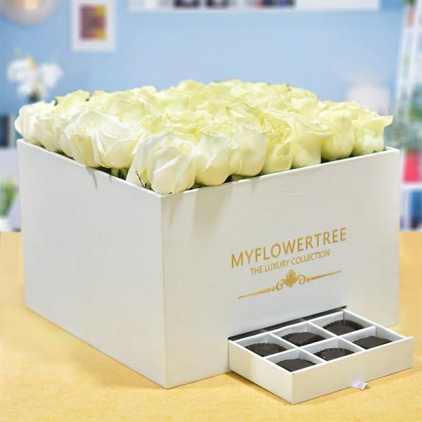 40 Roses in Luxury Box