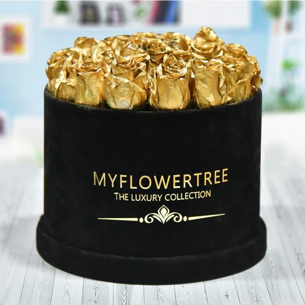 40 Golden Spray Roses in a Black Signature Velvet Box