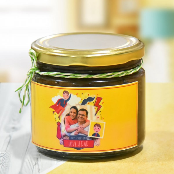 1 Personalised Chocolate Cake in a Jar (150gm) for Fathers Day