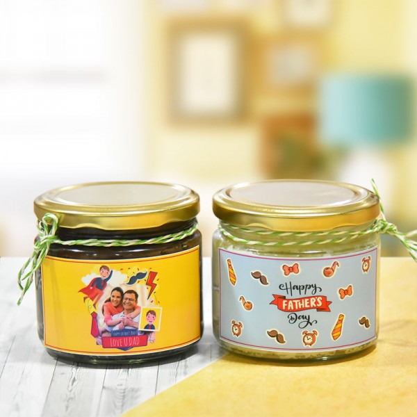 Set of 2 Personalised Jar Cake for Fathers Day